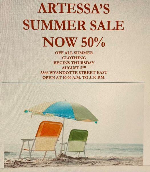 Artessa – Summer Sale now 50% off!