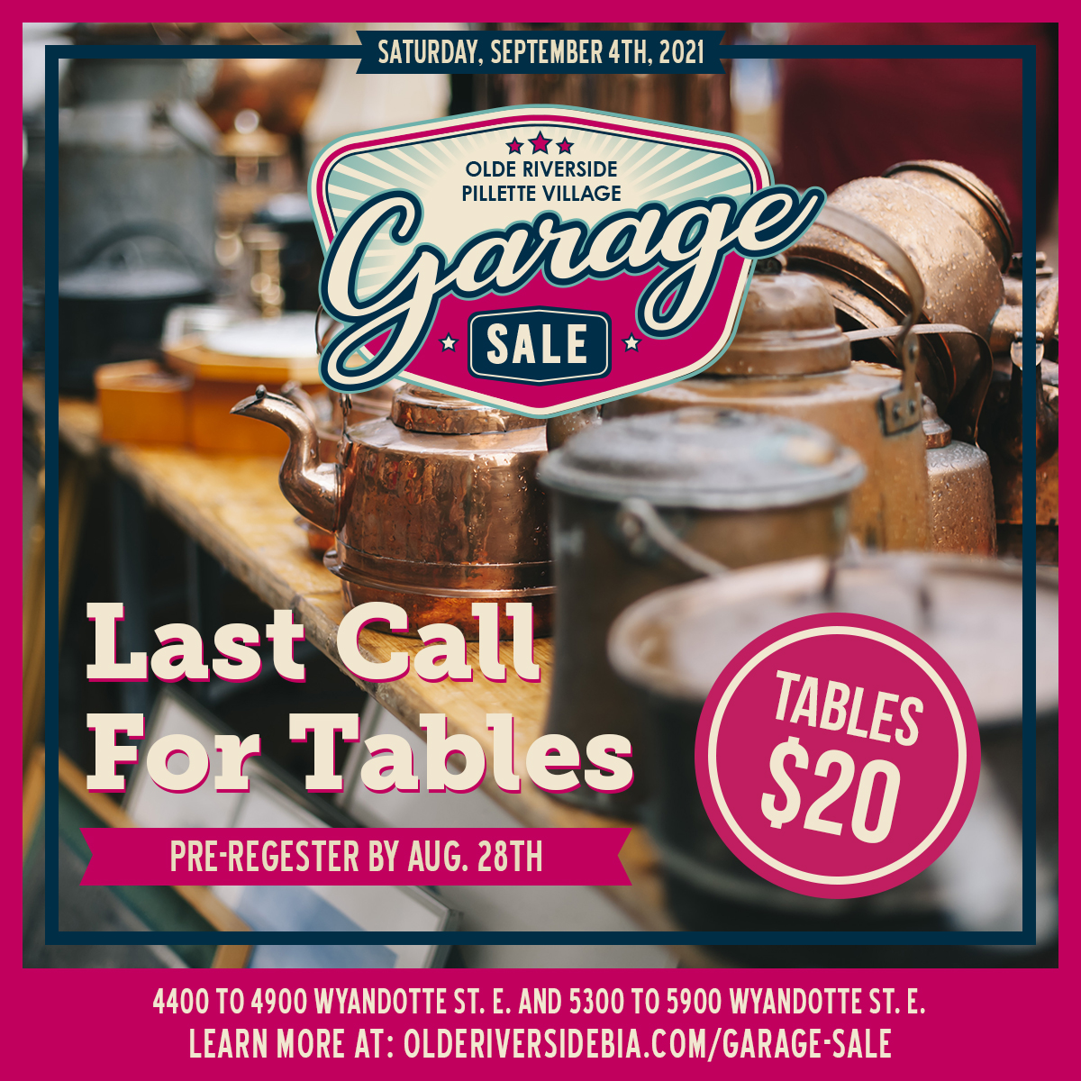 Last Call for Tables!